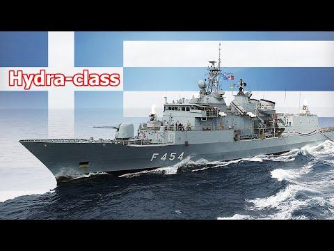 Overview Hydra Class Frigate of Hellenic Navy, part of MEKO warships