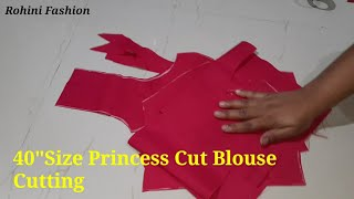 "40"" Size princess cut blouse cutting 