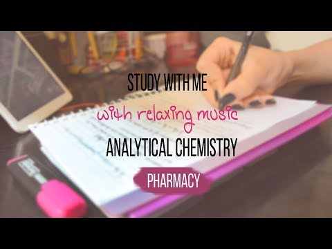 Study with me VLOG [pharmacy school] Analytical chemistry+ relaxing music | Reem