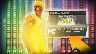 I HIT 99 OVERALL IN NBA 2K20! BEST BUILD UNLOCKS +4 ATTRIBUTE BOOSTS & 99 LOGO! PLAYER COMPLETE