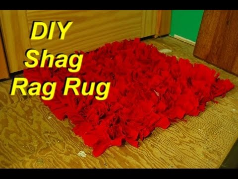 how to make a shag rag rug from old shirts easily youtube. Black Bedroom Furniture Sets. Home Design Ideas