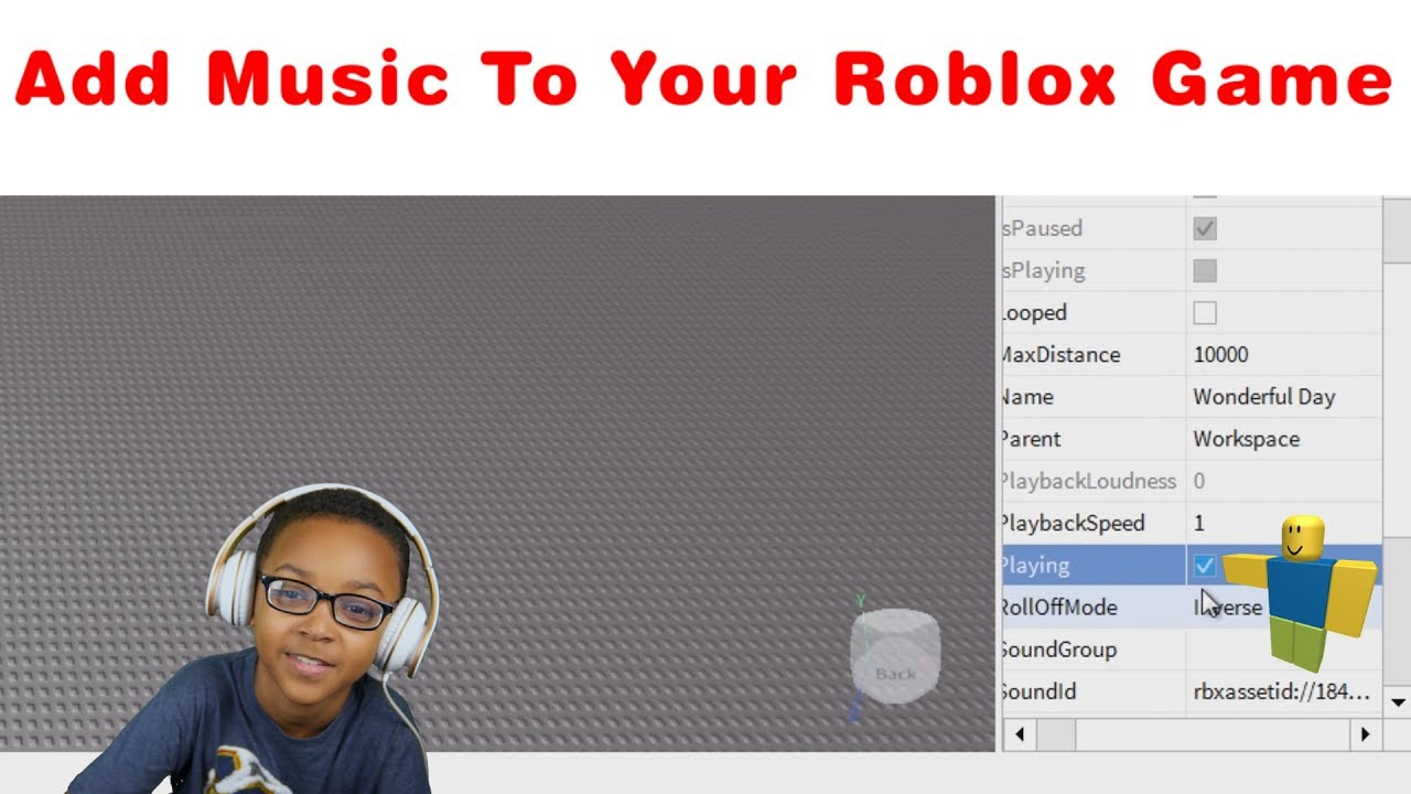 How to add music in your Roblox game 2020 - YouTube