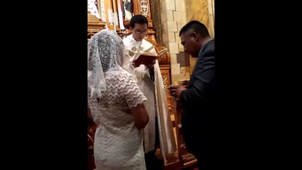 Traditional Roman Catholic Renewal Of Nuptial Vows Ceremony