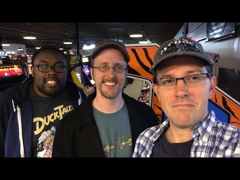 Arcade games! - James, Doug, Andre at Galloping Ghost