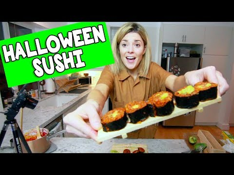 Download Youtube: I TRIED TO MAKE SPOOPY SUSHI // Grace Helbig