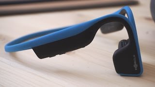 Bone Conduction Headphones??? AfterShokz Trekz Titanium Review!