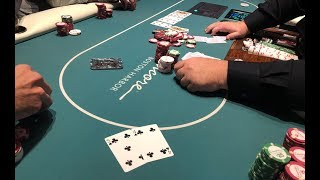A 4-BET POT WITH WHAT?! 4-5 OF CLUBS! | Encore Boston Harbor
