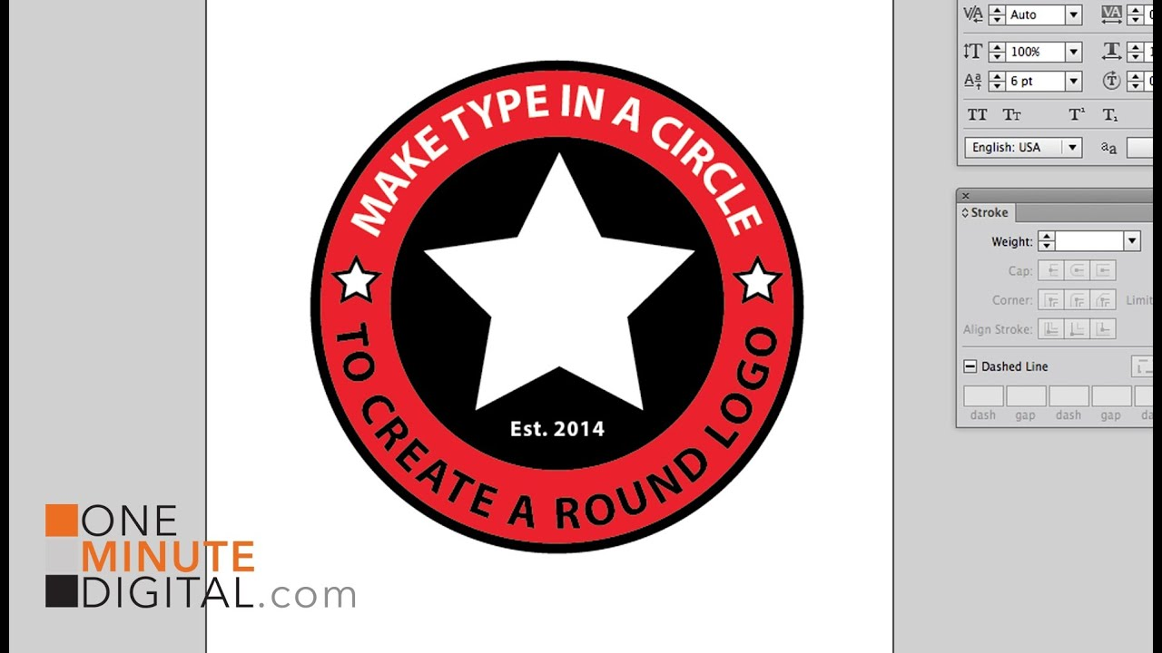 Make Type In A Circle To Create A Round Logo In