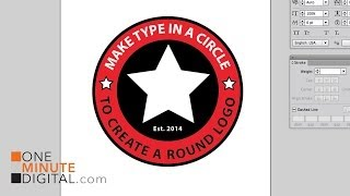 Make Type in a Circle to Create a Round Logo in Illustrator