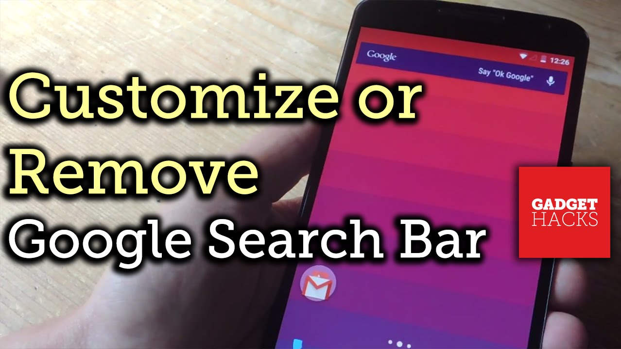 Customize Or Remove The Google Now Search Bar On Android