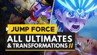 Jump Force | All Characters Ultimates & Transformations