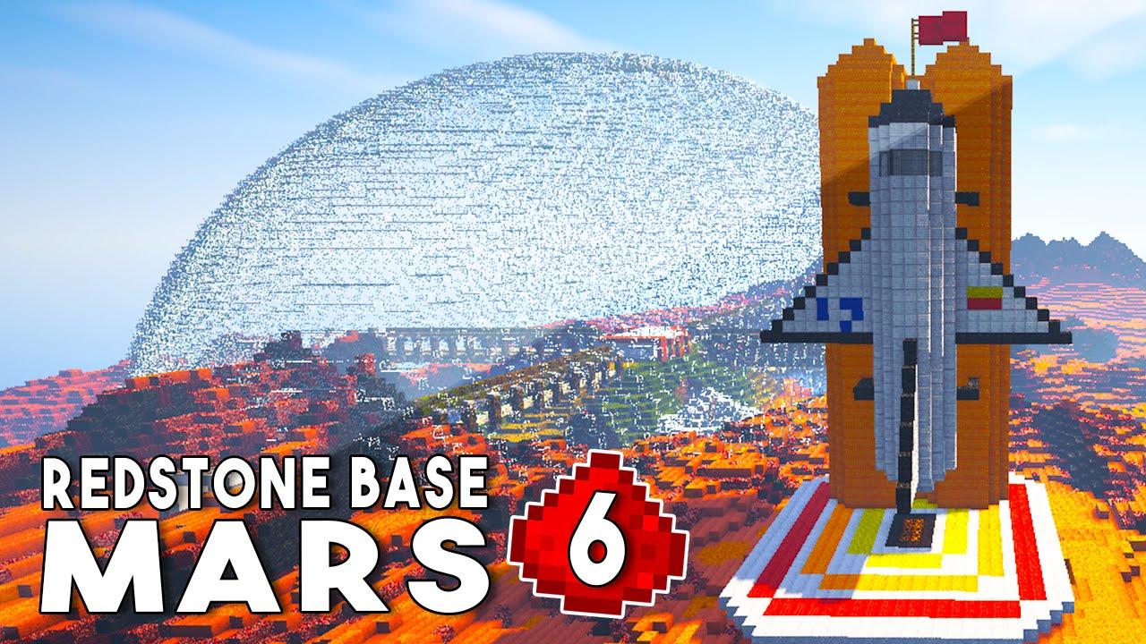 Let's Build: REDSTONE MARS BASE EP6 - Derpy Rocket Ship ...