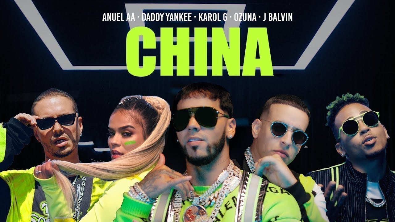 Anuel AA Daddy Yankee Karol G Ozuna u0026 J Balvin  China 1 Hour Loop