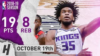 Marvin Bagley III Full Highlights Kings vs Pelicans 2018.10.19 - 19 Pts, 8 Reb off the Bench
