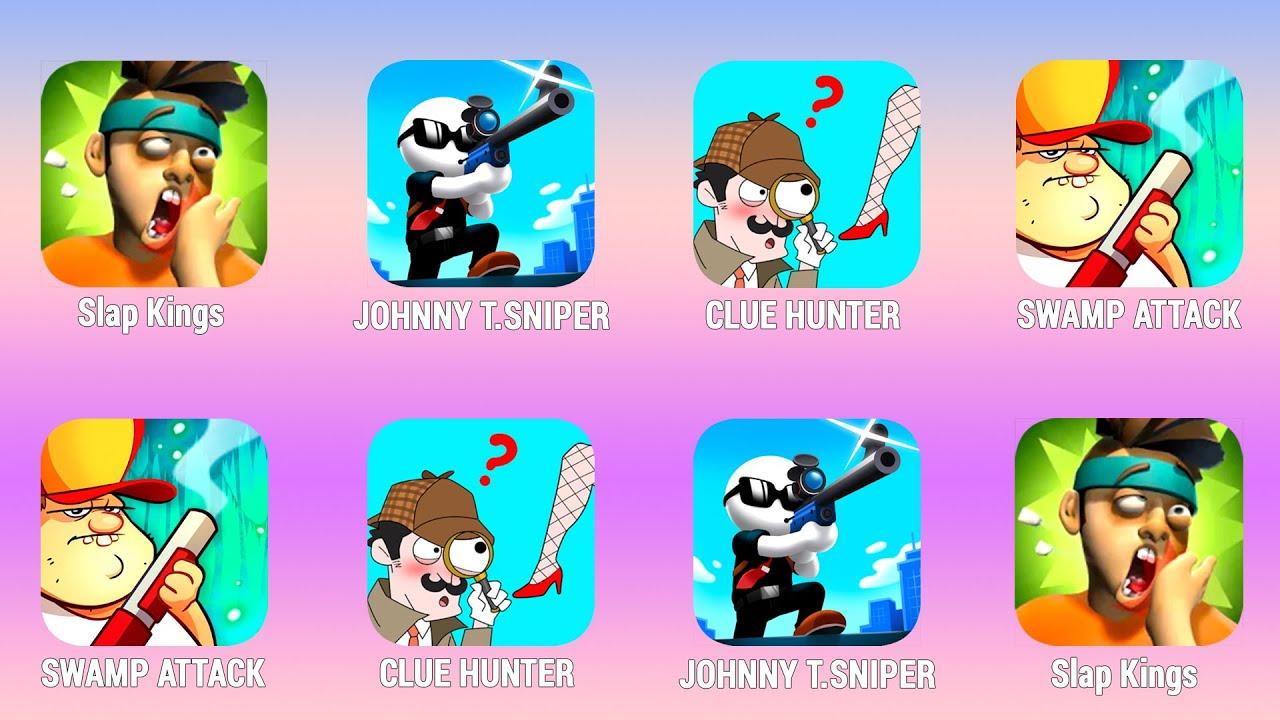 SLAP KINGS, JohnnyT.Sniper, Clue Hunter, Swamp Attack Walkthrough (iOs, Android) | Power of Gameplay