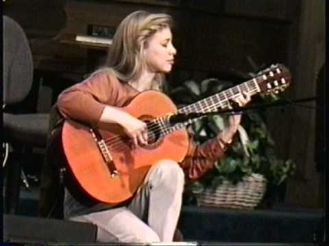 Muriel Anderson, 1997, playing Linus and Lucy (Charlie Brown's Theme Song).