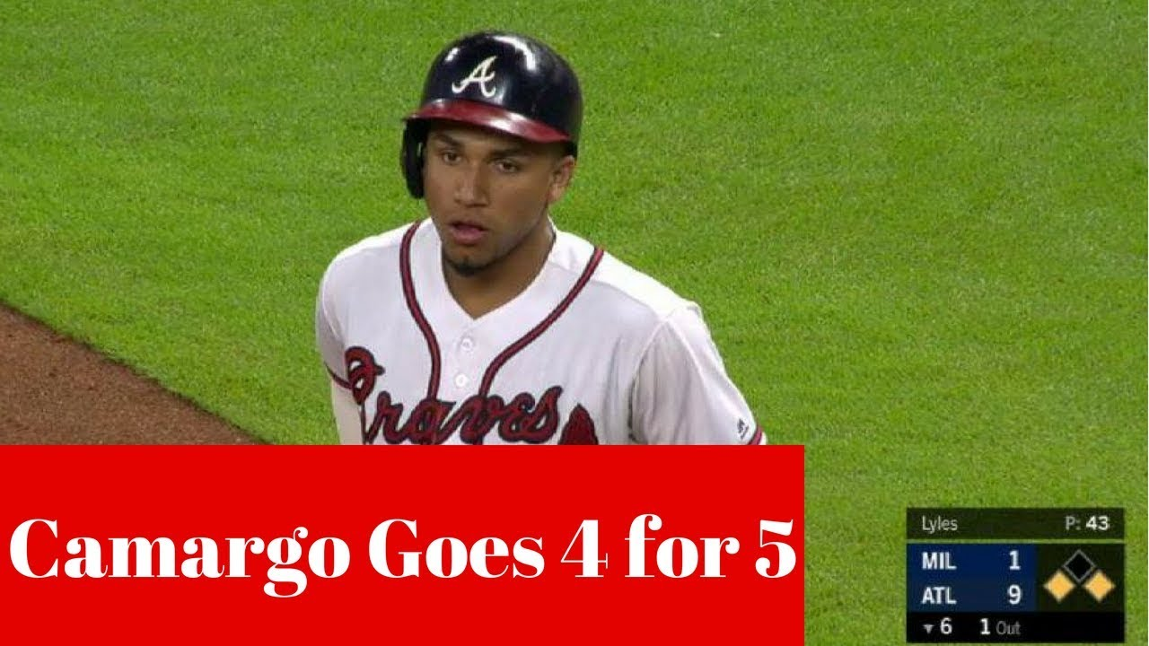 Johan Camargo Collects 4 Hits & 2 RBI's | Atlanta Braves Highlights | August 10, 2018