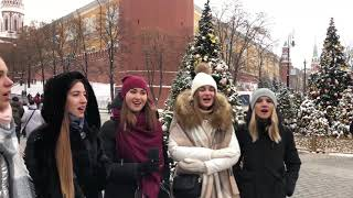 Russian Folk Music. Beautiful girls. Огней так много золотых