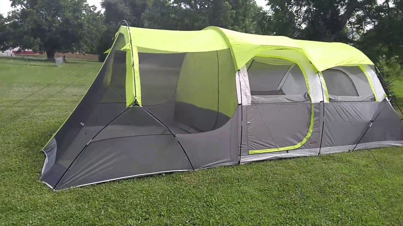 Inside the Bass Pro Shops Eclipse 10-person tent. & Inside the Bass Pro Shops Eclipse 10-person tent. - YouTube