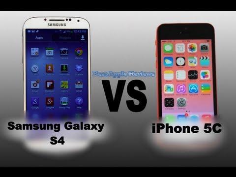 Apple iPhone 5C VS Samsung Galaxy S4 - Camera, Processer ...