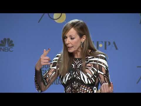 Allison Janney  2018 Golden Globes  Full Backstage Speech