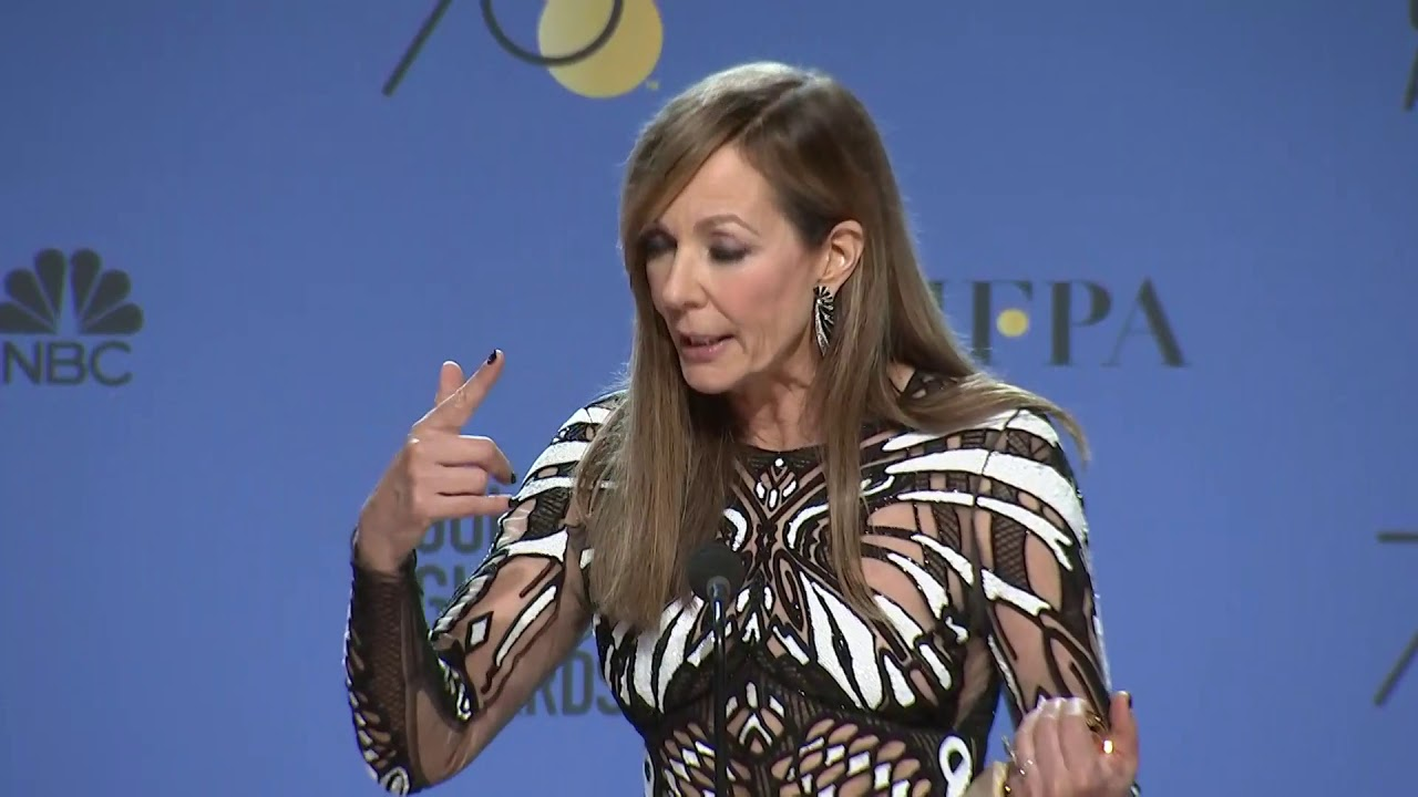 Allison Janney Nudography allison janney - 2018 golden globes - full backstage speech