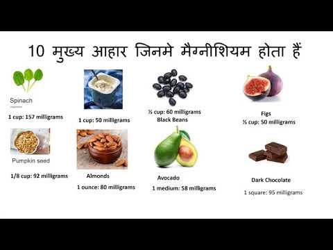 मैग्नीशियम युक्त मुख्य आहार   Top Magnesium Rich Foods + Magnesium Benefits