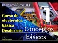 curso de electrónica básica desde cero | Basic electronics course (#1 conceptos básicos)