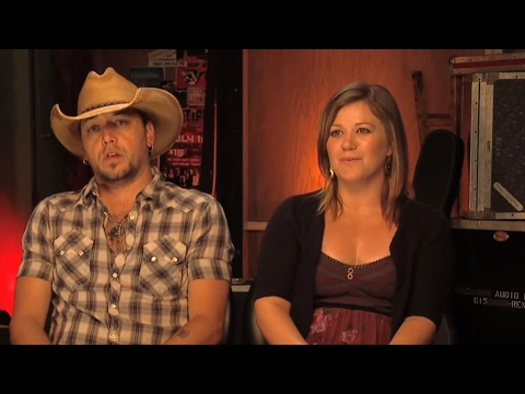 Jason Aldean & Kelly Clarkson Talk Good About Each Other | Country's Night To Rock | CMA