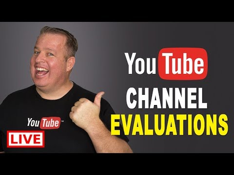 Live YouTube Channel Evaluations + Q&As