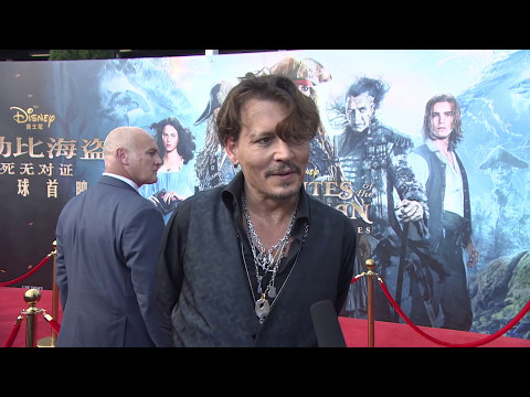 Pirates Of The Caribbean Dead Men Tell No Tales  Shanghai Premiere Johnny Depp