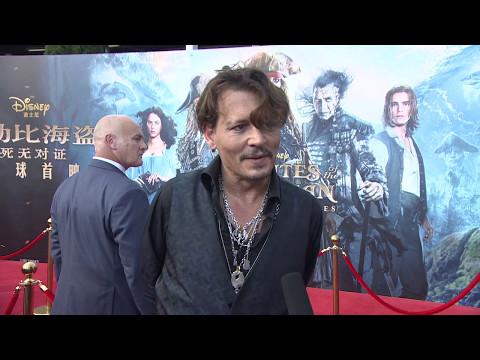 Pirates Of The Caribbean Dead Men Tell No Tales  Shanghai Premiere Johnny Depp
