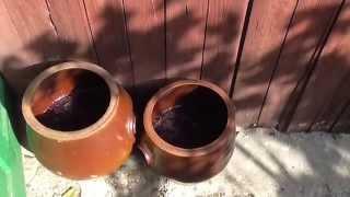 Вино из винограда Каберне Совеньон. 1е брожение. Брожение мезги. Видео 3