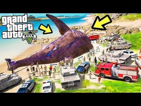 Я нашел мегалодона - крадем у военных самую большую акулу в Лос-Сантосе ! Реальная жизнь гта 5 gta 5