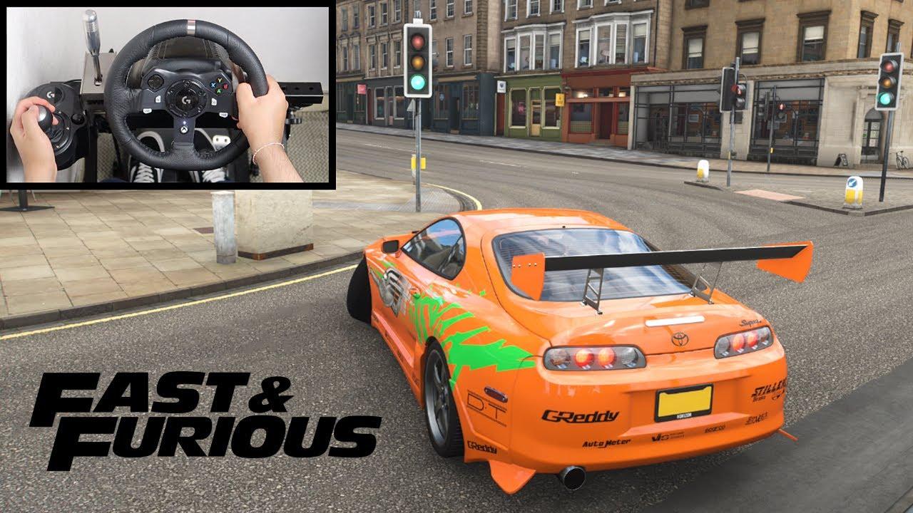 Forza Horizon 4 Paul Walker Toyota Supra (Steering Wheel + Shifter) Fast and Furious Gameplay
