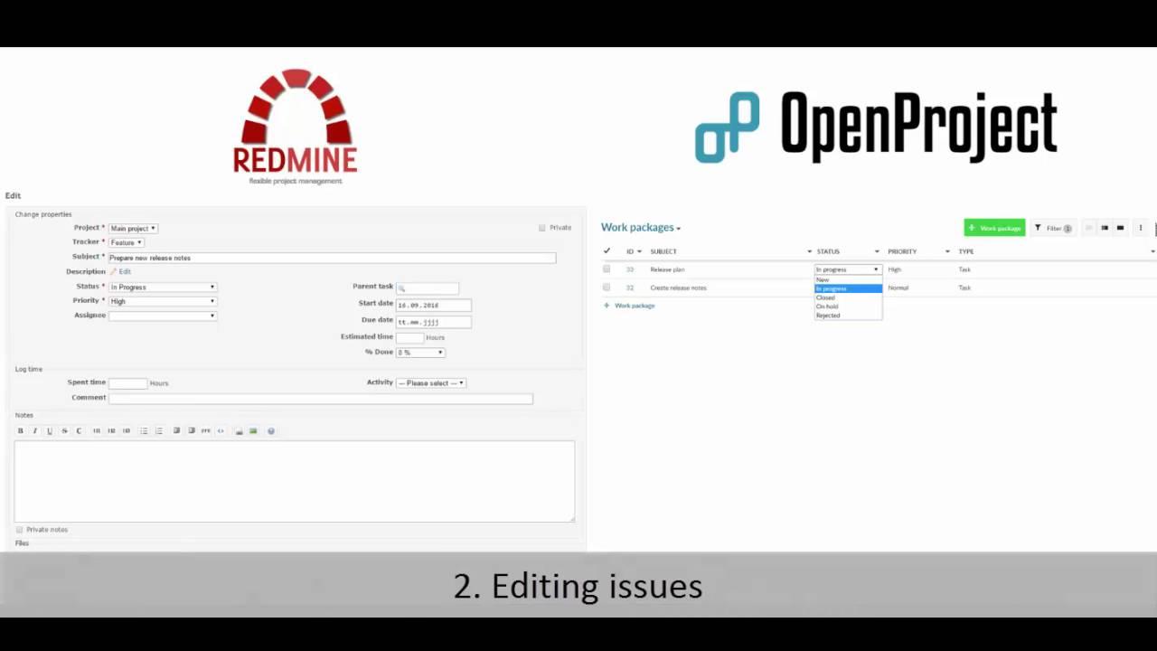 OpenProject vs Redmine - Comparison