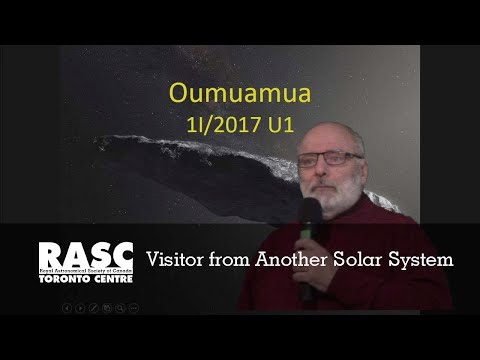 RASC-TC Oumuamua:  Visitor from Another Solar System