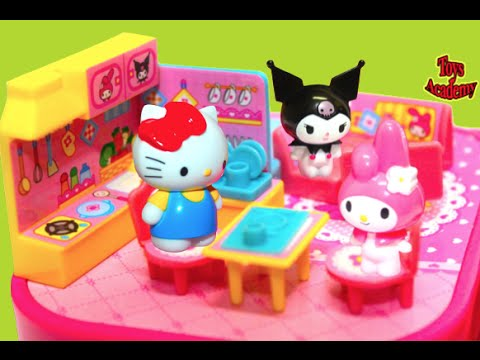 My Melody My Home Playset Hello Kitty Visits Toys