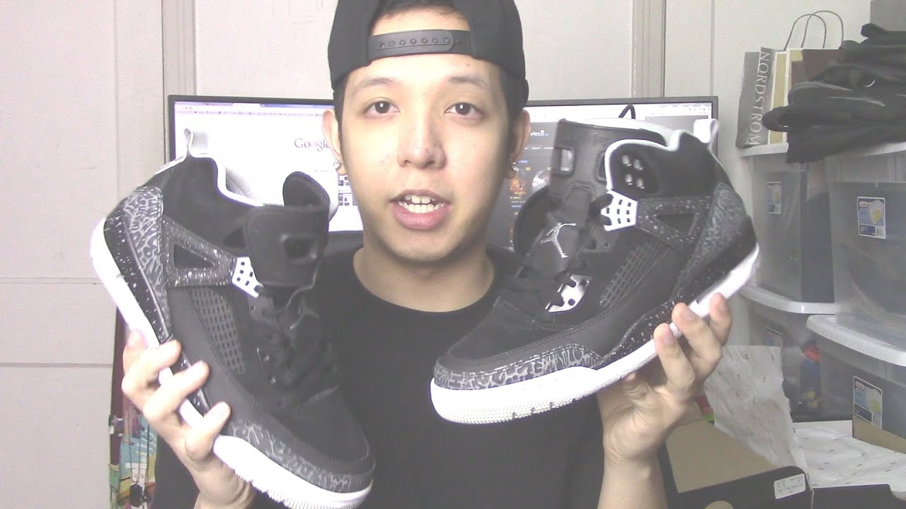 Bought A Pair Of Black/Grey/White Air Jordan Spizike Shoes At Champs :) -  YouTube