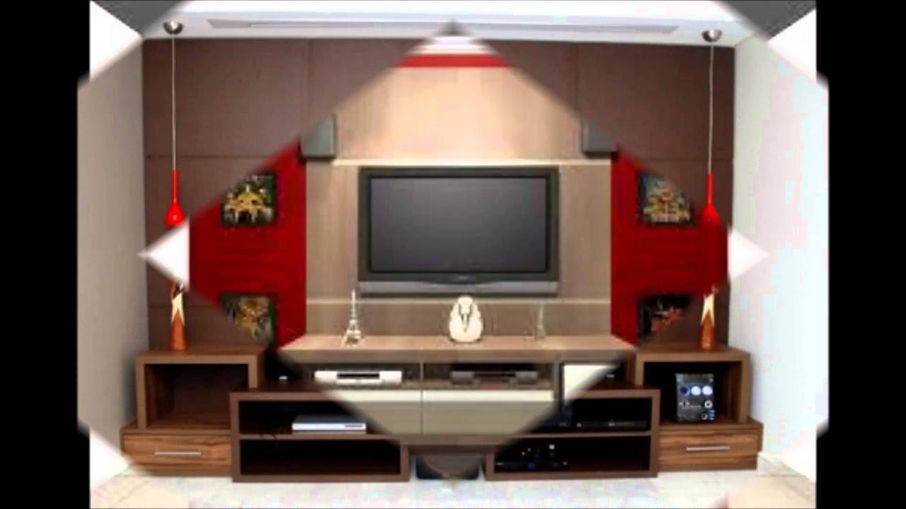 Rack E Painel Para Sala Pequena ~ Lindos Modelos de Painéis de TV  YouTube