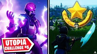 SECRET BATTLE STAR! Utopia Challenges Week 5 (Fortnite Season 9)