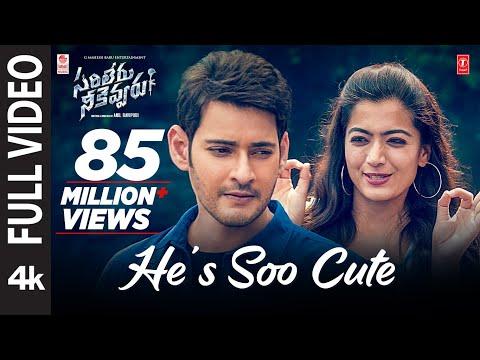 He's Soo Cute Full  Song 4k | Sarileru Neekevvaru | Mahesh Babu, Rashmika,anil Ravipudi | Dsp