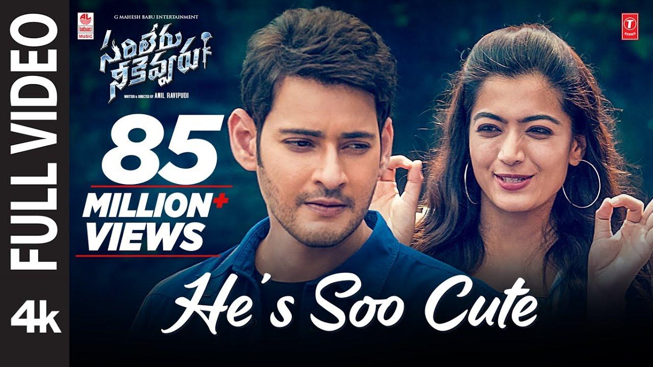 Download He's Soo Cute Full Video Song [4K]   Sarileru Neekevvaru   Mahesh Babu, Rashmika,Anil Ravipudi   DSP