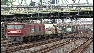 EH500-40牽引のコンテナ貨物(6098レ)  蕨駅前を通過