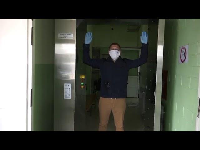 Corten Art  donacija - Dezinfekcioni tunel u domu zdravlja - RTV Šabac