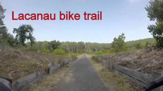 Bike trail from Le Tedey to Lacanau Ocean 2015