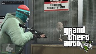 GTA V - First Mission - BANK ROBBERY | 1080p | FPS60 ( no commentary )