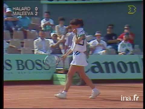 Katerina Maleeva vs Julie Halard Roland Garros 1990