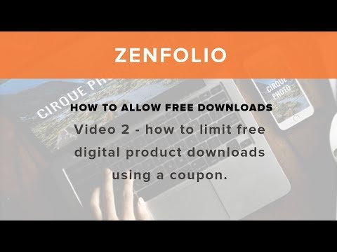How to allow free downloads - Video 2 How to limit free digital product downloads using a coupon!