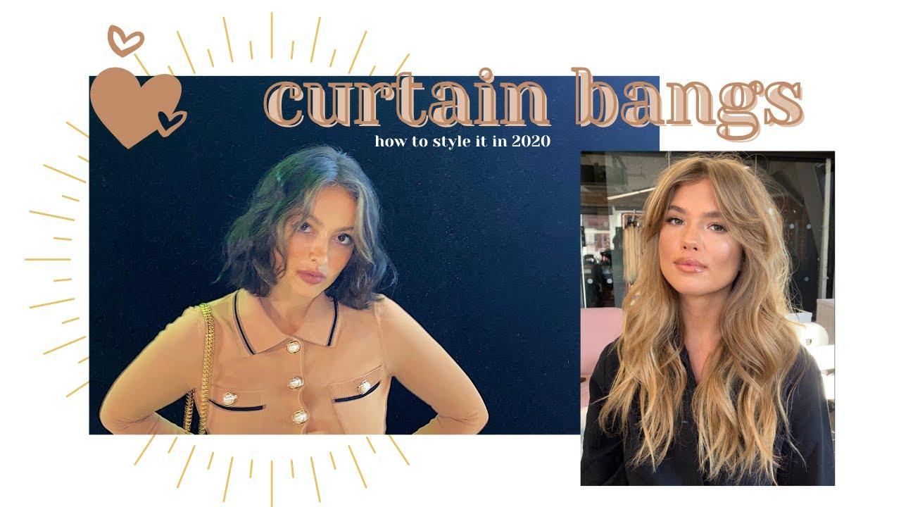 Styling Curtain Bangs Tiktok Trend 2020 Youtube